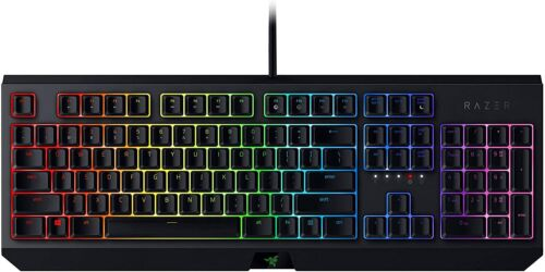 Razer BlackWidow Chroma Mechanical Wired Gaming Keyboard Green Switch - Black