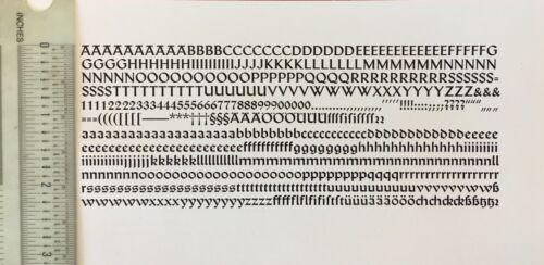 New Letterpress Type -14pt. Uhlen Rundgotisch