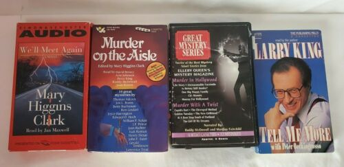 Lot of 16 Used Audio Books on Cassette Tapes Various Genres and Authors