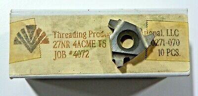 10 Pieces Tpi 27nr 4acme T5 Carbide Inserts  H511