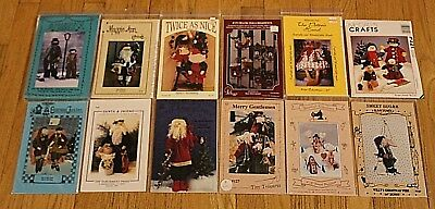 VTG 1990s Christmas Santa Elves Snowman UNCUT Patterns Lot of 10 + 2 Free NOS -