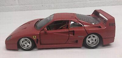 Ferrari F40 1987 1:18 Scale Diecast Car / Red / Burago