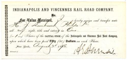 AMBROSE E BURNSIDE, Civil War General/Fredericksburg, Document Autograph 8294