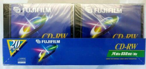 Fujifilm CD-RW Pack Of 20 74 Minutes 650MB