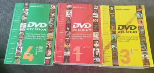 DVD Delirium 3 Book Set #1, #3, & #4 RARE RED #1 horror cult FAB press review
