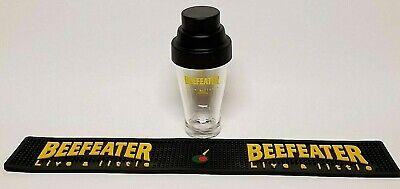 Beefeater 425 ml. Glass w/ Plastic Shaker Top & Beefeater Bar Rail Mat  - Plastic Bar Glasses Wholesale