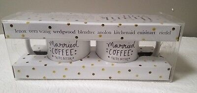 BED BATH AND BEYOND SET OF 2 MARRIED COFFEE TASTES BETTER KEURIG CUPS BRAND