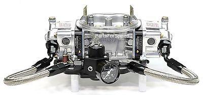 Fuel Pressure Regulator, Gauge, Bracket, Holley Carburetor Fuel lines Kit NPT
