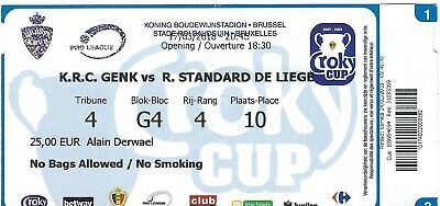 Ticket: Genk - Standard FINALE Coupe Belgique Croky Cup (17-3-18)