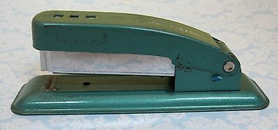 Vintage Swingline Cub Blue Green Stapler Works Well Small Retro Long Island T17
