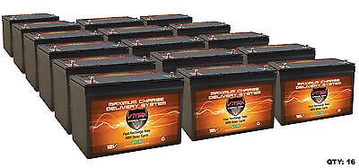 16 Vmax Slr100 Solar 100ah Ea Deep Cycle 12v Agm Battery Hicapacity Maint Free