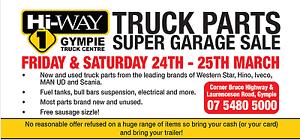 TRUCK PARTS SUPER GARAGE SALE Glanmire Gympie Area Preview