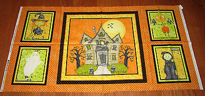 JEEPERS CREEPERS HAUINTED HOUSE 100% cotton fabric Panel HALLOWEEN Ghost Witch](Jeepers Creepers Halloween Fabric)