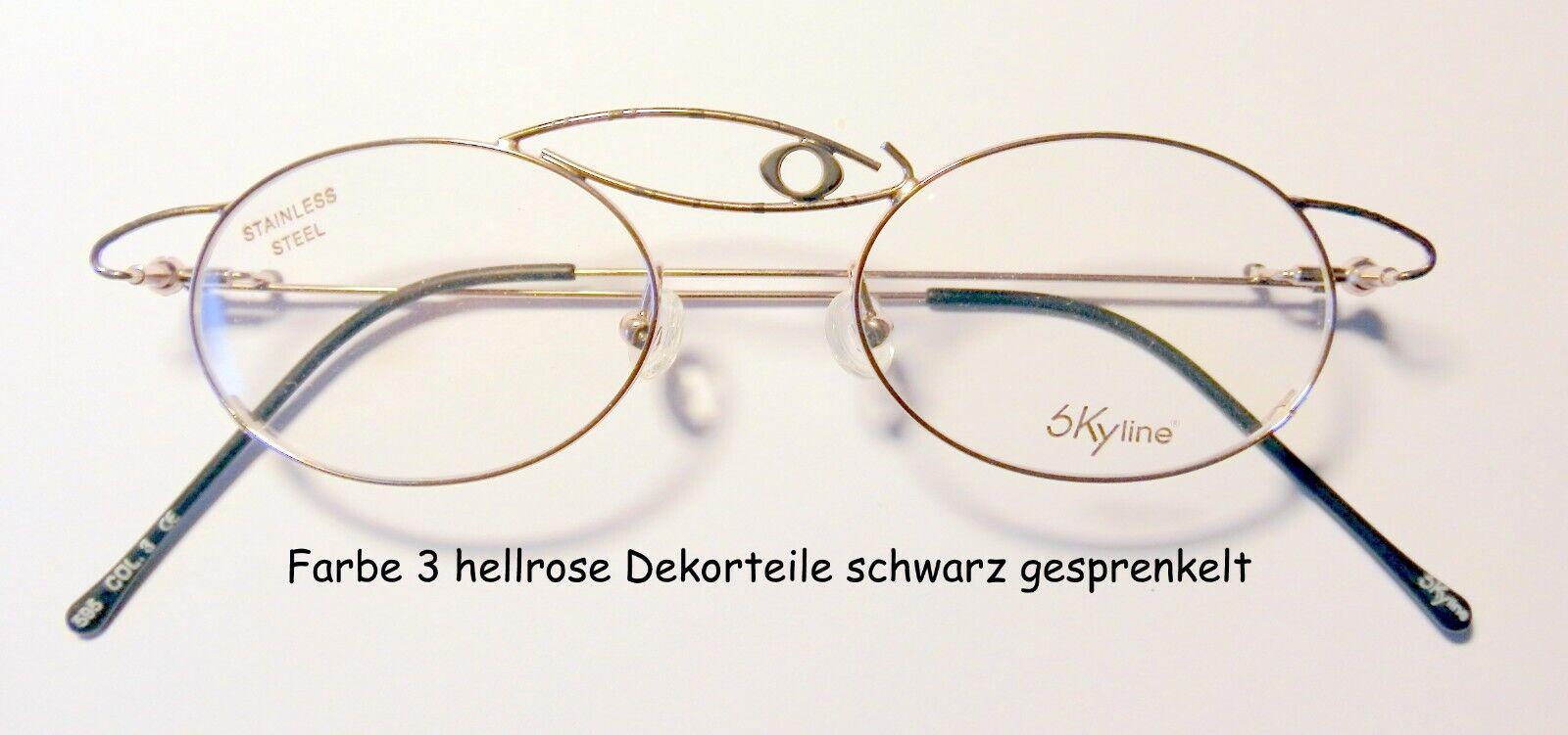 Damen Brillengestell ohne Stärken Stützscheiben Edelstahl modische Brille rose