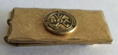 PGA 12K Gold Filled Money Clip The Professional Golfers