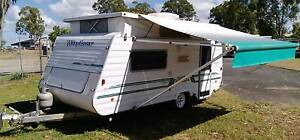 2000 WINDSOR 16ft CARAVAN ROLL OUT AWNING FULL ANNEXE SINGLE BEDS Deception Bay Caboolture Area Preview