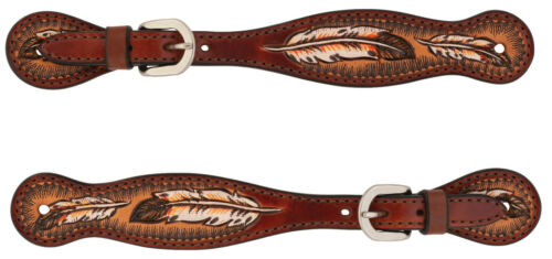 Weaver Leather Turquoise Cross Carved Coco Feather, Ladies,45503-53