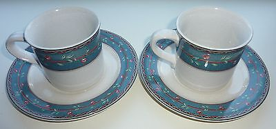 (Christopher Stuart MAYFAIR JQ501 Cups & Saucers DW MW Oven Safe Lot of 2 each)