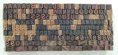 Vintage Letterpress Woodwooden Printing Type Block Typography 228 Pc 8mmdm11