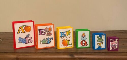 Vintage 1987 Tuppertoys Book Worm Nesting Alphabet ABC Books Complete Set