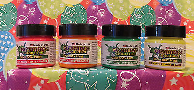 Glow in The Dark Body Paint~Made in USA~Non Toxic~Water Base~U Pick Your Colors! - Glow In The Dark Body
