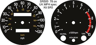 <em>YAMAHA</em> SR250 SR400 SR500 SPEEDO TACHO REV COUNTER CLOCKS GAUGES DIALS