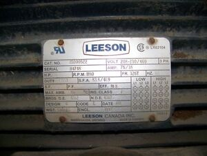 30 Hp 6 Pole Leeson c/w Electric Cooling Fan Kitchener / Waterloo Kitchener Area image 2