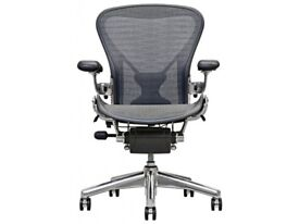 herman miller aeron office chair size B fully loaded chrome base, posturefit