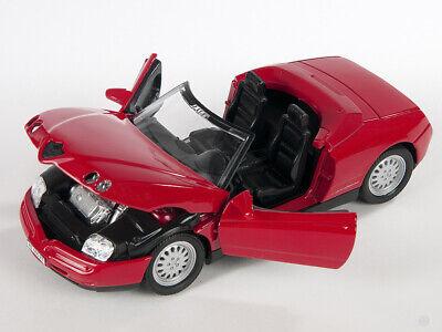 BLITZ VERSAND Alfa Romeo Spider rot / red Welly Modell Auto 1:24...