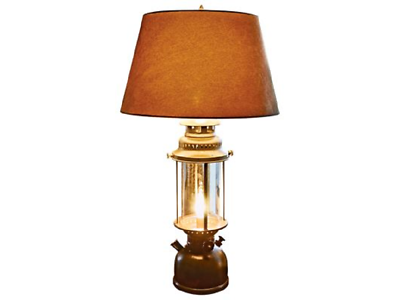 Large Lantern Table Lamp Shade White River Rustic Cabin Deco