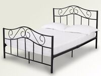 A brand new 4ft6 double black metal bed frame. Free delivery