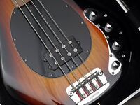 MusicMan Stingray Fretless Bass in sunburst over ash, superb condition hardly played