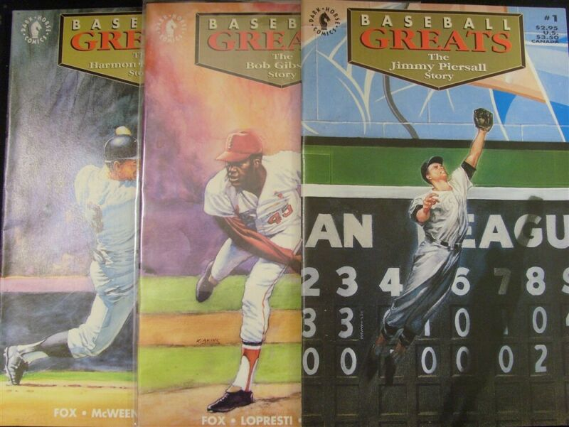 BASEBALL GREATS 1 2 3 DH COMIC SET W/CARDS PIERSALL GIBSON KILLEBREW 1992 VF