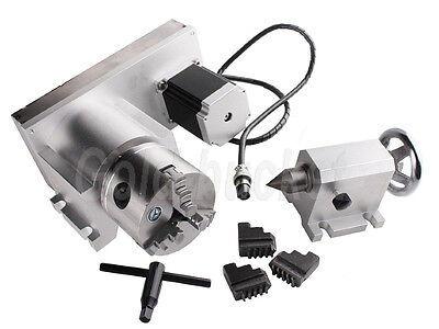 Cnc F Style A-axis 4th-axis Rotary Axis 80mm 3-jaw Scroll Chucklathe Tailstock
