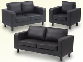 LUXURIOUS FAUX LEATHER BOX SOFA BRAND NEW JUST £199 ONO SAME DAY EXPRESS DELIVERY ALL OVER LONDON