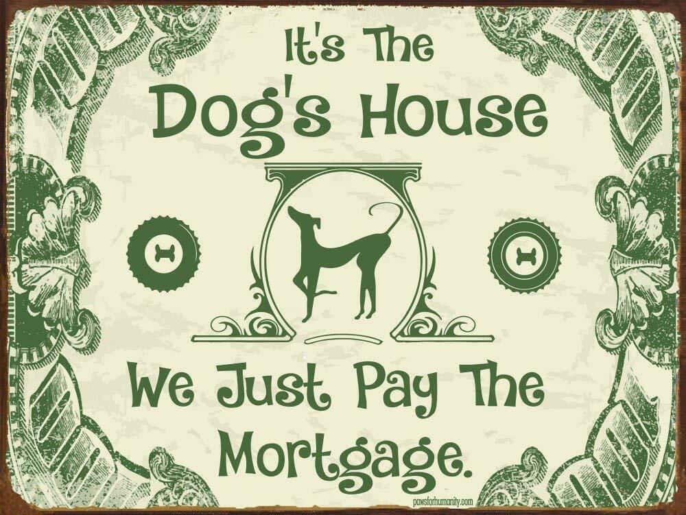 Metal Tin Sign it/'s the dog's house Bar Pub Vintage Retro Poster Cafe ART