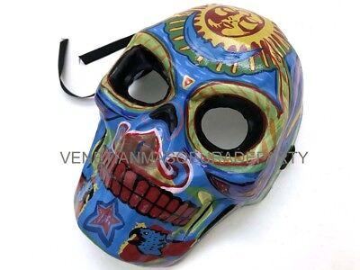 Sugar Skull Full Face Masquerade Dia de los Muertos Skull Halloween Party Mask - Man Sugar Skull Halloween