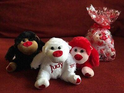 Personalized Valentines Gorilla Plush Toy Valentines Day  Kids Animals  Novelty  - Valentines Animals