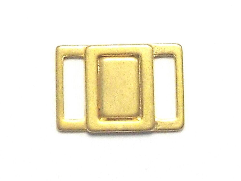 Bikiniverschluß Bikini Verschluß Metall 10 mm matt gold Verschluss nickelfrei
