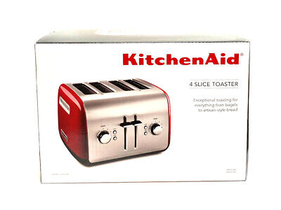 KitchenAid KMT4115 4-Slice Toaster with Manual High-Lift Lever Empire Red NEW