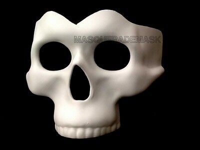 Black White Skeleton Mask Halloween Masquerade Prom Party DIY Day of the Dead - Halloween Mask White And Black