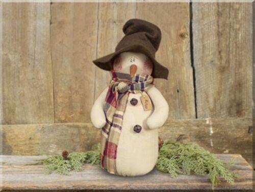 Ellis Winter Snowman Christmas Fabric Doll Whimsical Farmhouse Country Decor