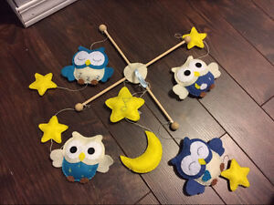 Handmade Owl musical mobile