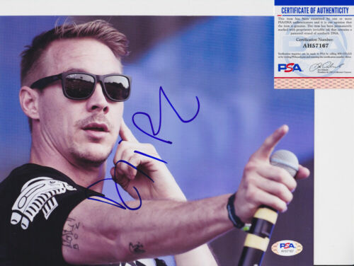 Diplo EDM DJ Signed Autograph 8x10 Photo PSA/DNA COA #1