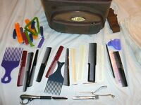 Jaguar Hairdressing Bag with Hair Stylist Supplies, Combs, etc