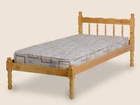 Pine Single bed wood frame