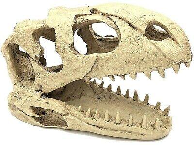 Dinosaur Skull Pet Reptile Decoration Hide - Dino Terrarium Ornament Shelter NEW