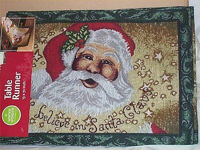 Table Runner Tapestry Santa Claus Holiday Decoration (Holiday Table Decoration)