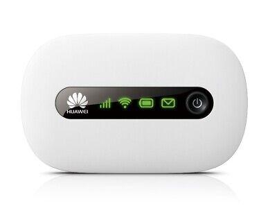 UNLOCKED Huawei E5220 3G Mobile Broadband Wi-Fi Router, Mi-Fi, hotspot, white