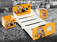 JCB Junior bed with mattress and toy box